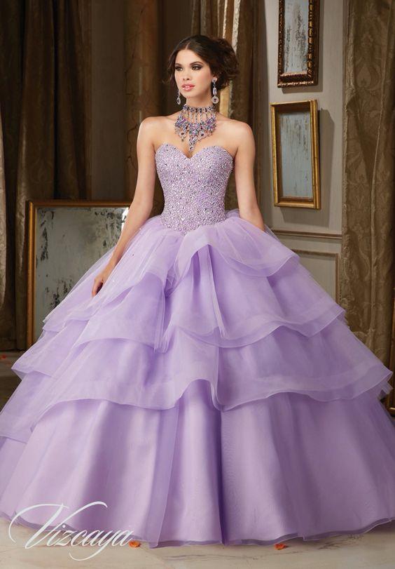 Vestidos de 15 años violeta
