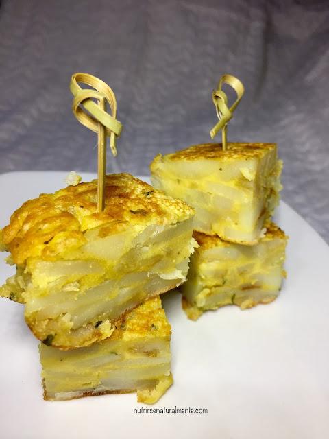 Tapas de la tortilla vegana