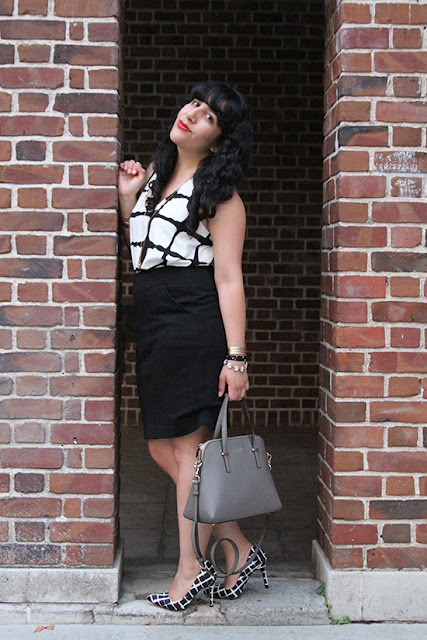 Adam Lippe for Target Top and Heels Blogger Style Outfit