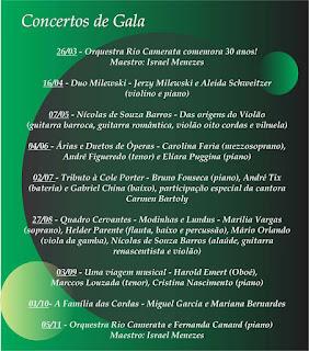 Programação completa do Centro Cultural FESO Pro Arte Teresópolis da Série Concertos de Gala 2016