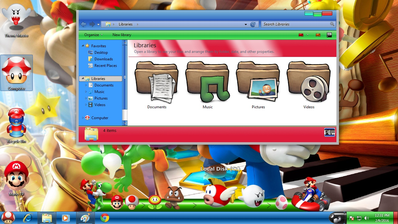 How to install Super Mario theme on Windows 10