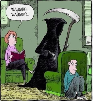 Funny Grim Reaper Warmer Cartoon Picture