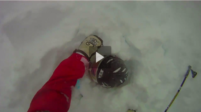 Guy Sticks Big Line to Save Skier Buried in an Avalanche