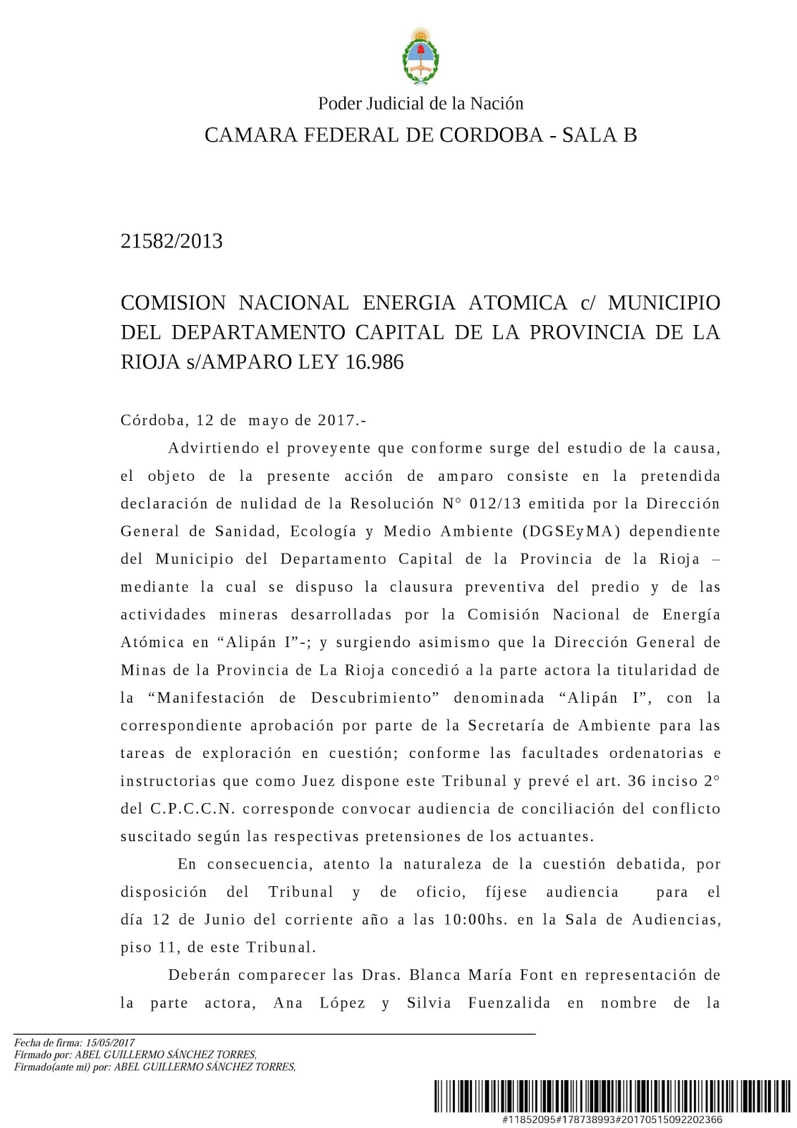 COMUNICADOS DE PRENSA Y DOCUMENTOS