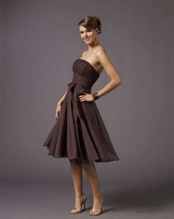 bridesmaid dresses: Elegant Brown Bridesmaid Dresses