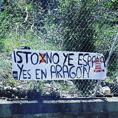 Isto no ye España yes en Aragón, Purna, independentista, idiotas, Arran, Puyalón