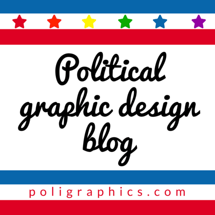 Political Graphic Design Blog Logo Red Orange Yellow Green Blue Purple Stars Red White and Blue Stripes 440pixelsx440pixels