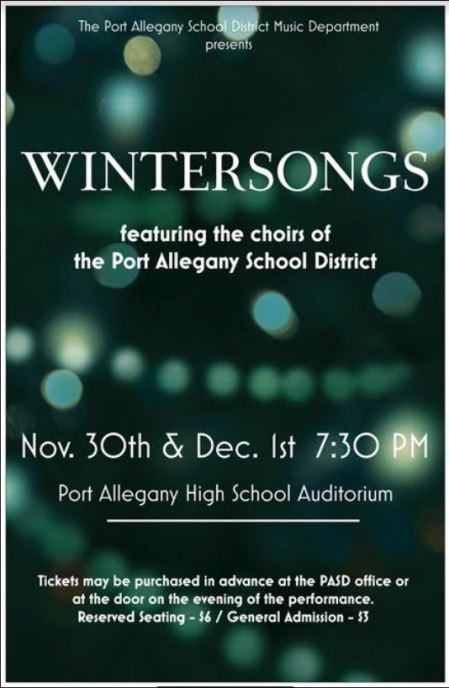11-30 12-1 Wintersongs Port Allegany School