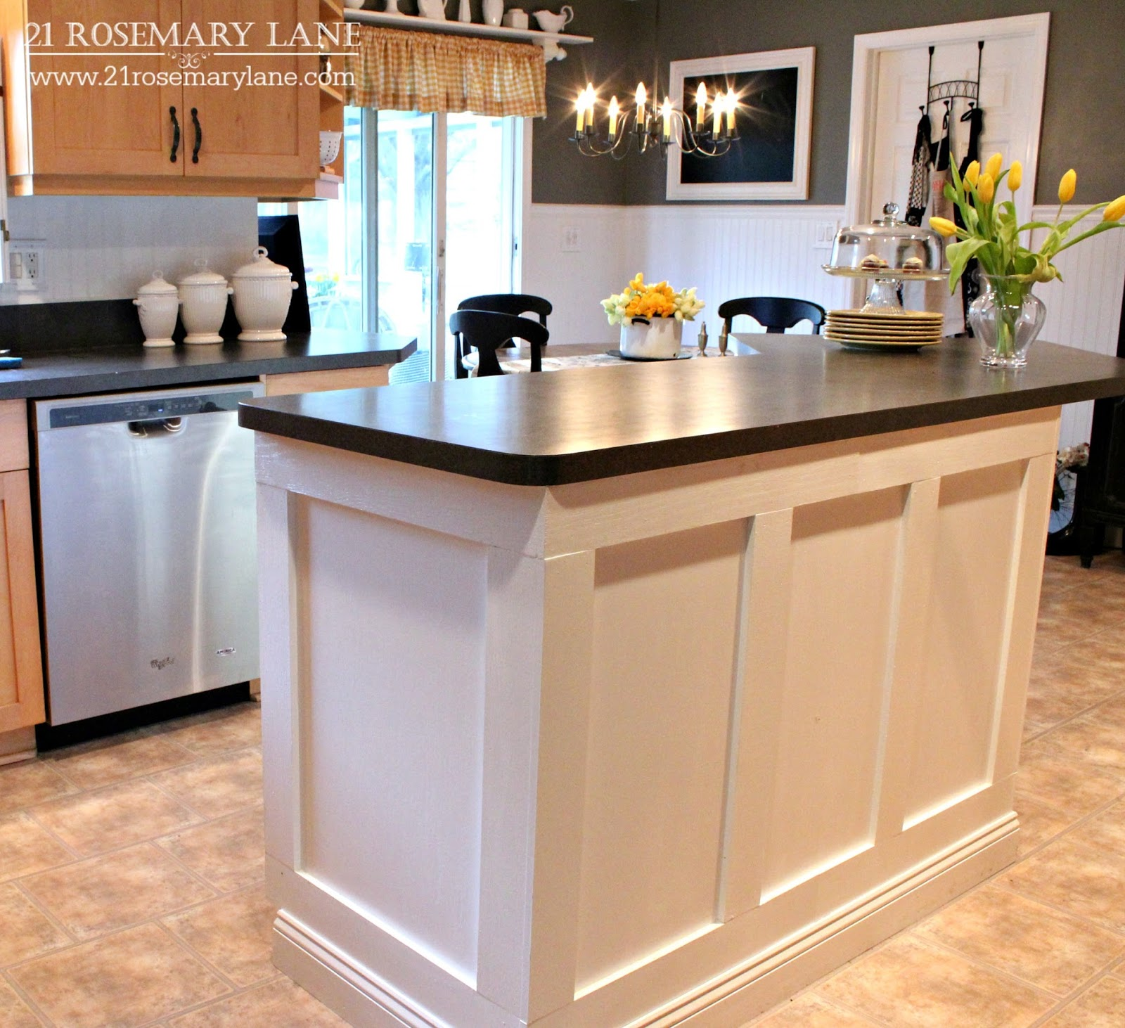 Kitchen Islands And: 21 Rosemary Lane: Board & Batten Kitchen Island Makeover