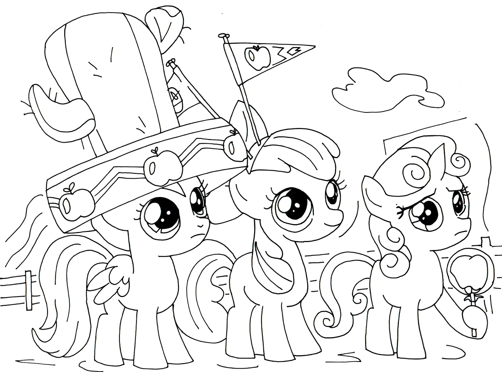 Free Printable My Little Pony Coloring Pages Apple Jack My