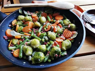 Menestra de verduras rehogadas