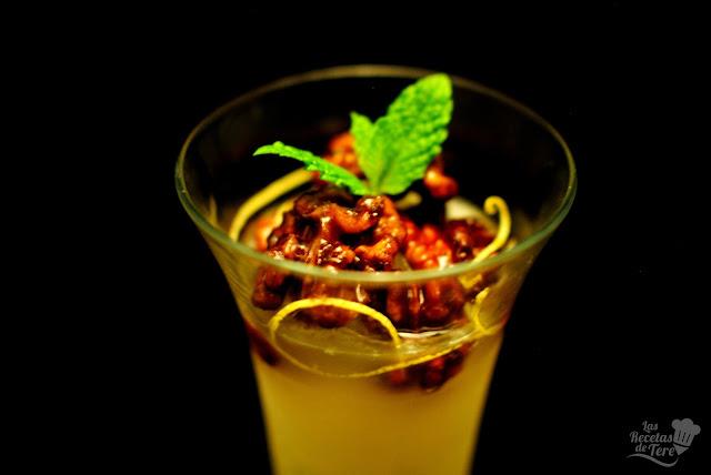 Sorbete de limón casero con nueces de California caramelizadas tererecetas 05