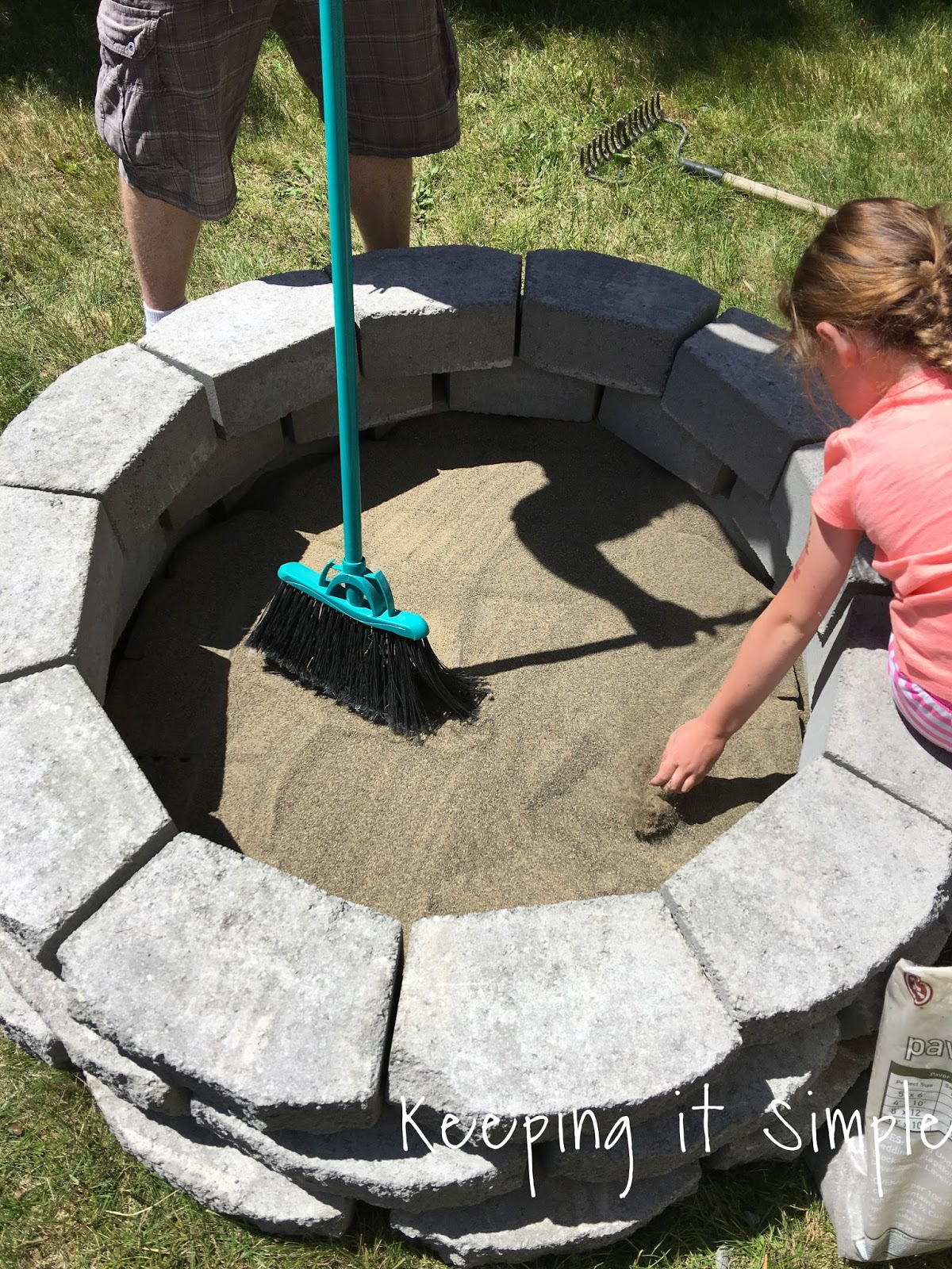 How to Build a DIY Fire Pit for ly $60 • Keeping it Simple