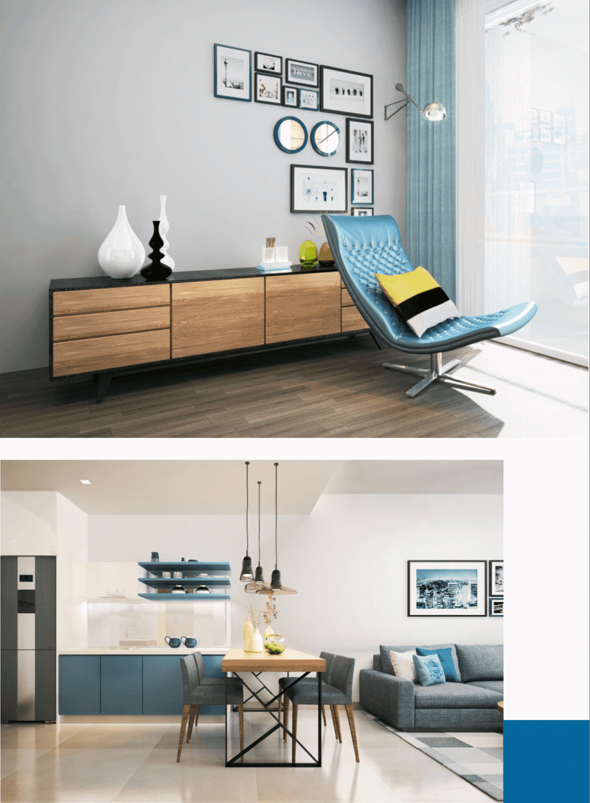 Thiết kế nội thất phòng ăn dự án chung cư Gelexia Riverside
