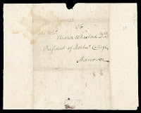 A handwritten address to Eleazar Wheelock.