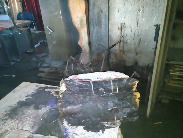 पालीगंज महाबलीपुर पंजाब नेशनल शाखा में शार्ट सर्किट से  लगी आग