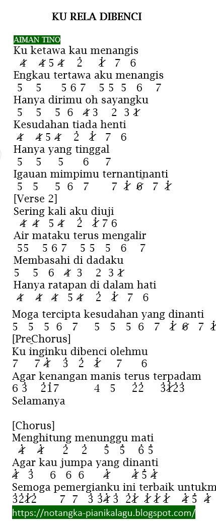 Lagu Lagu Aiman Tino : aiman, Angka, Pianika, Aiman, Dibenci