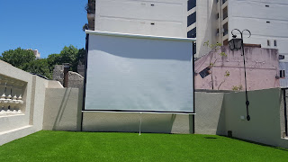 Garden cinema screen exterior