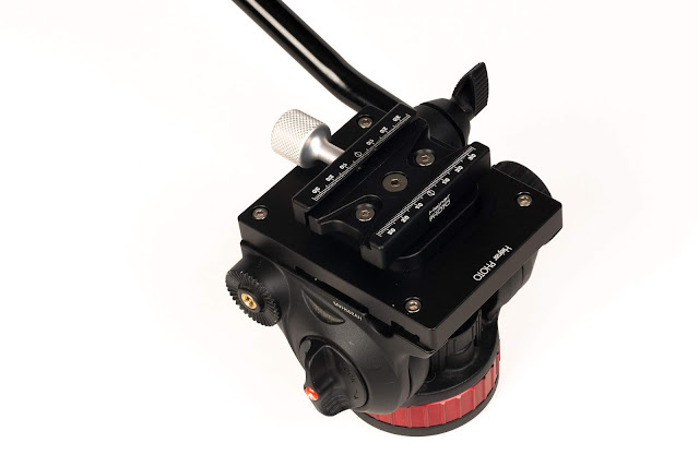 Hejnar MVH502F63 conversion set on Manfrotto MVH502AH Head left top