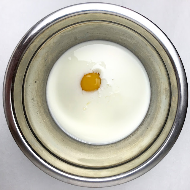 Bowl of Buttermilk and Egg