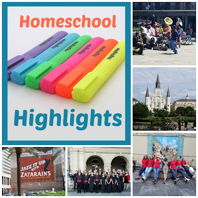 Homeschool Highlights - Big Easy Week on Homeschool Coffee Break  @ kympossibleblog.blogspot.com