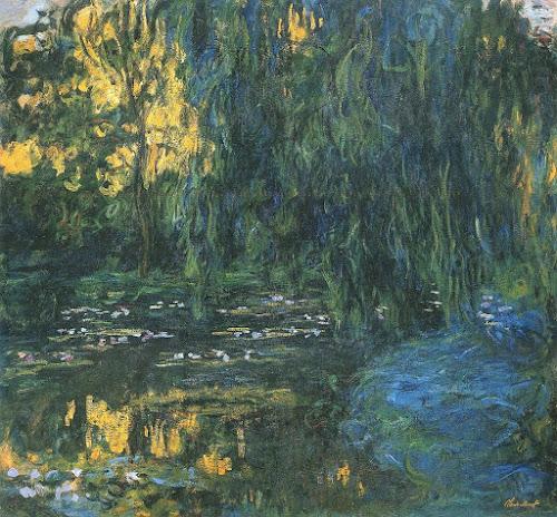 Nenúfares sobre el lago y Sauce Llorón - Monet