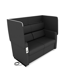 Powered Sofa with A Flip Up Privacy Panel