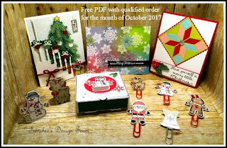 Frenchie Team Customer appreciation. Stampin'UP! Christmas cards