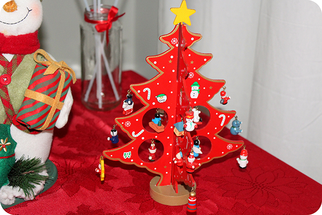 Decoração da Mesa : Festa de Natal : Árvore de Madeira