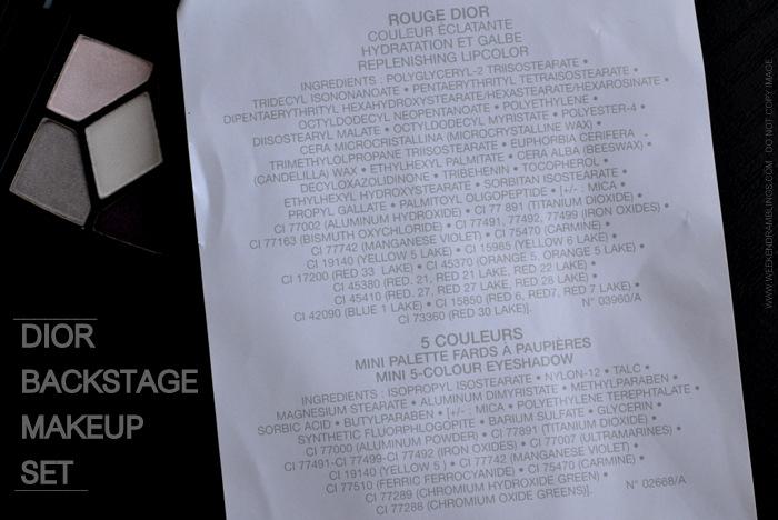 Weekend Ramblings: Sneak Peek Vol. 11: Dior Backstage ...