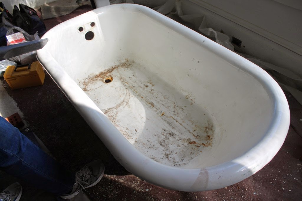 refinishing vintage tub