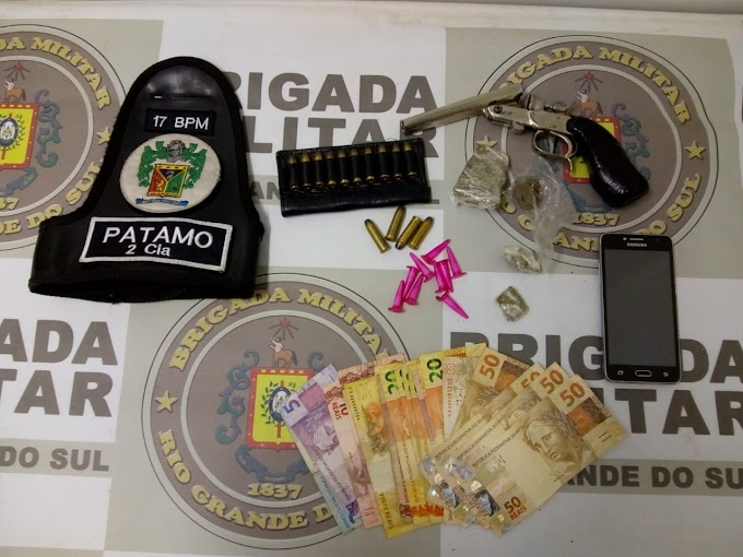 GRAVATAÍ | Brigadianos do 17º BPM realizam prisão por tráfico de drogas na Vila Rica