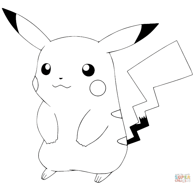 Click The Pokmon Go Pikachu Coloring Pages To View Printable Version Or  Color It Online Patible With Ipad And Android Tablets