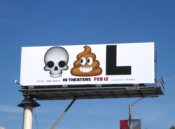 Deadpool movie emoji billboard
