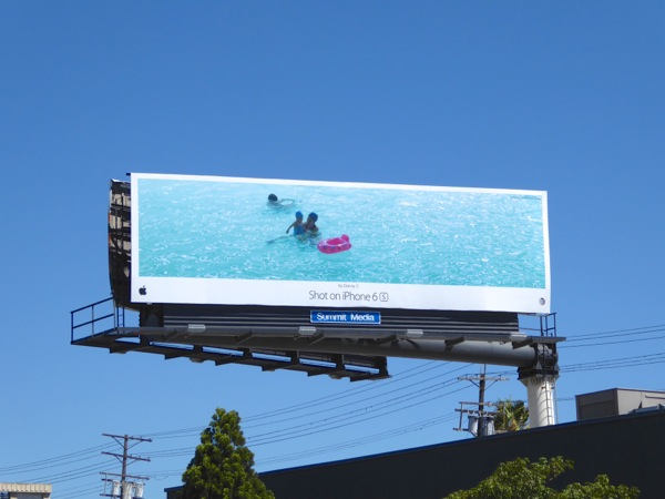 Shot on iPhone 6s Danny Z Mum baby swim billboard