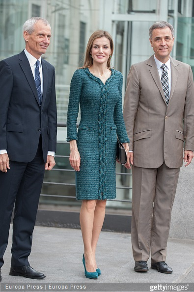 Queen Letizia of Spain attends the exhibition opening of modern and contemporary art from Basel Kunstmuseum collections and Rudolf Staechelin and Im Obersteg collections at Queen Sofia Museum