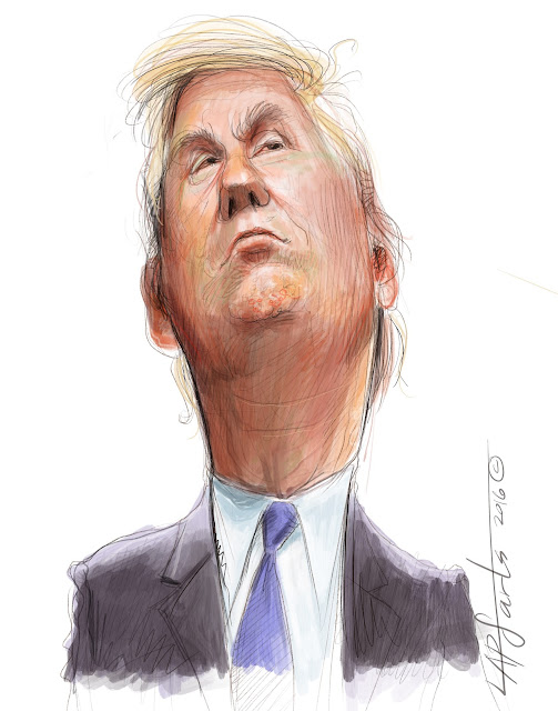 Sketch of President Donald Trump