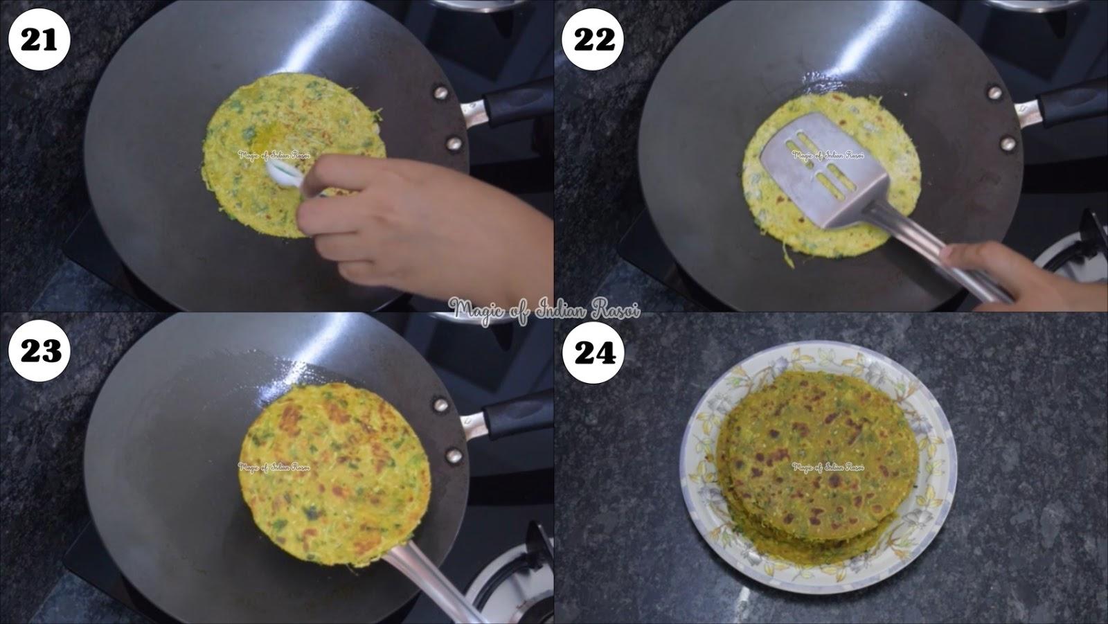 Dudhi Thepla Recipe - Lauki Paratha  - दूधीलौकी का थेपला रेसिपी - Priya R - Magic of Indian Rasoi