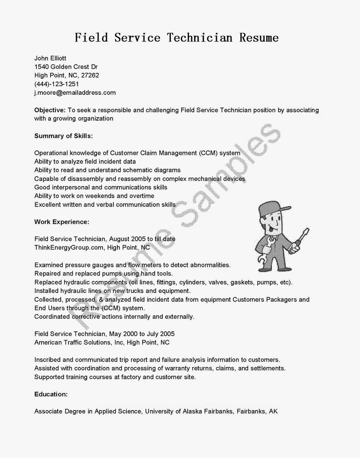 it field technical service resume top field service engineer cover letter samples aaa aero inc us unforgettable general maintenance technician resume