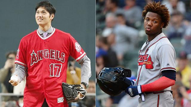 Ronald Acuña y Shonei Ohtani, los novatos del año en MLB