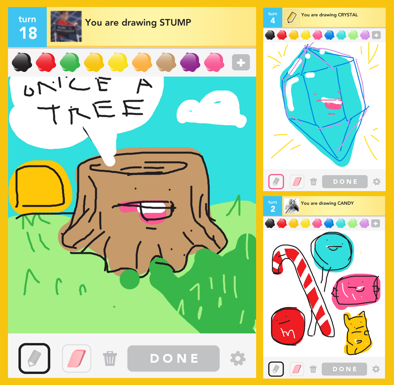 Draw Something Stump Crystal And Candy In