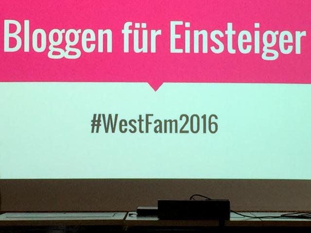 Westfam - Bloggen für Einsteiger