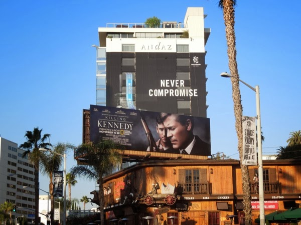 Killing Kennedy TV movie billboard
