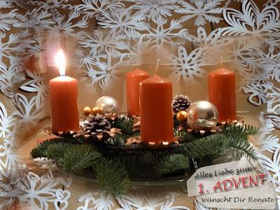 willkommen in renates eckchen liebe gr e zum 1 advent. Black Bedroom Furniture Sets. Home Design Ideas