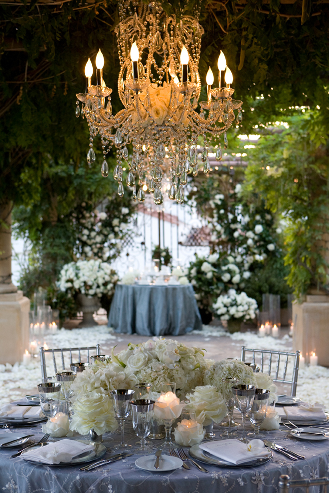 chandeliers outdoor weddings wedding event gorgeous decorations extravagant chandelier garden outside reception party decor lighting bridal fancy flowers venue bride