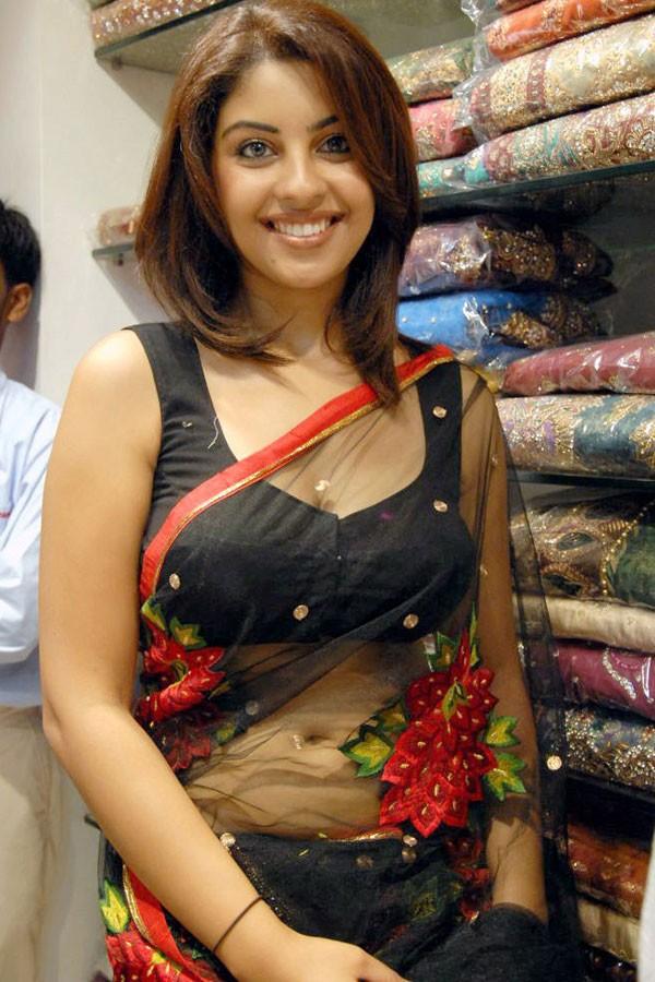 Sexy girls in transparent saree