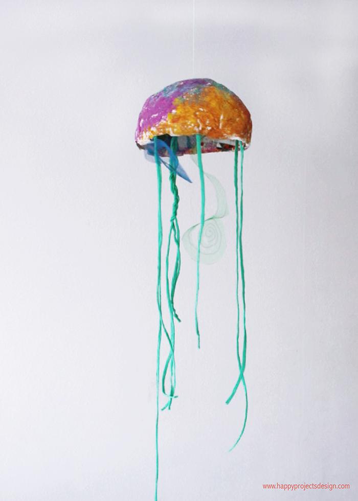 Medusas con cartapesta