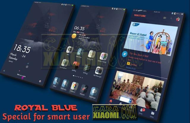 Update Tema Xiaomi Royal Blue Mtz For Xiaomi MIUI V9 / V8 Theme