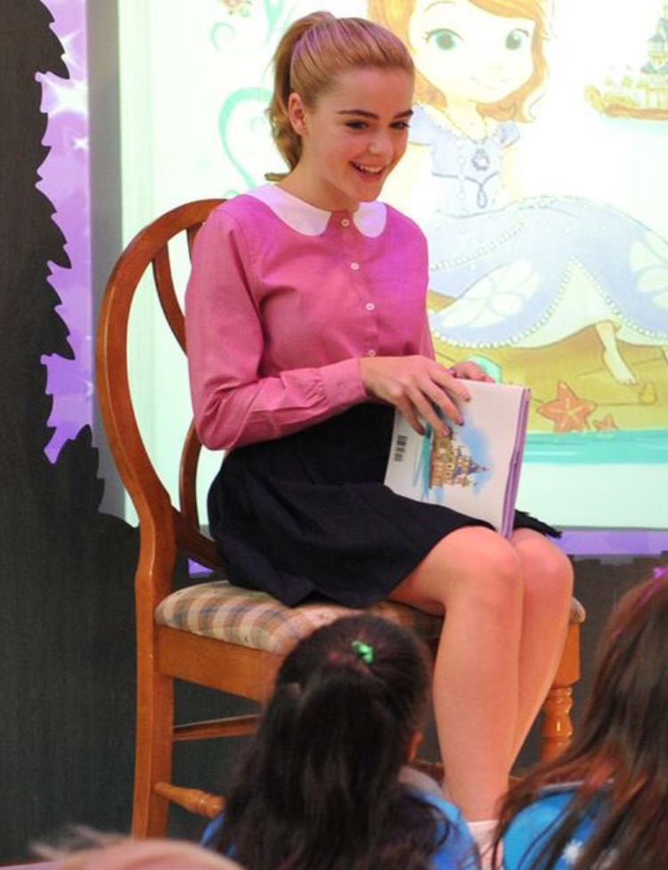 Kiernan Shipka attend Disney Channel's Sofia The First Season One