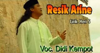 Lirik Lagu Resik Atine - Didi Kempot